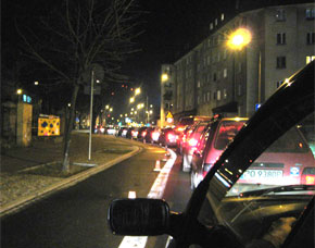Evening rush hour in Poznan.  Photo by: Lee Schipper