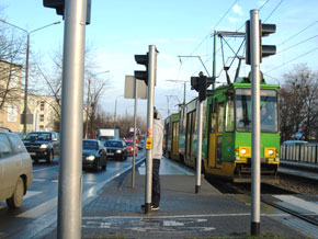 One of the trams in the city