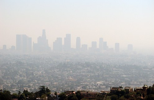 "Los Angeles smog. Photo by <a title=""Los Angeles smog"" href="