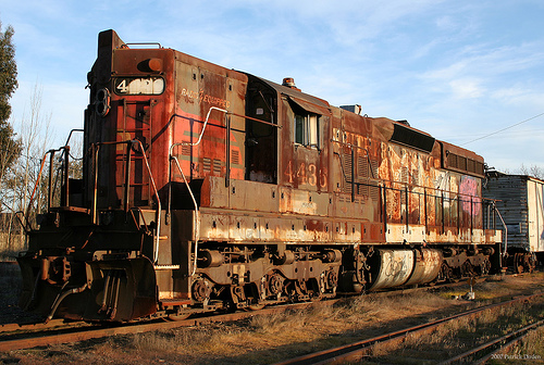 An abandoned train in Sonoma, Calif.<small>Photo by <a href=