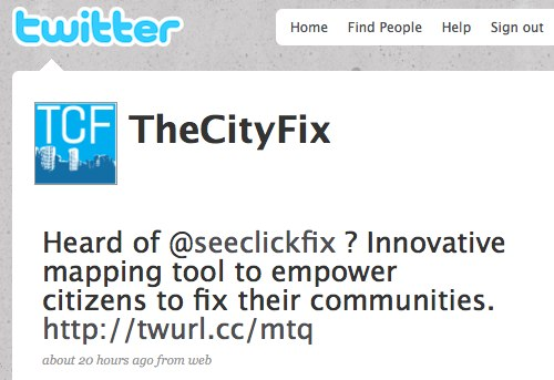 Want to learn about sustainable solutions to the problems of urban mobility in 140 characters or less? Follow us on Twitter!