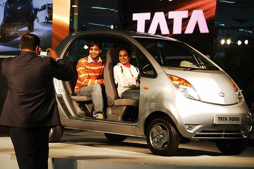 The Tata Nano creates buzz in India and around the world. Flickr photo by code_martial.