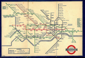 Harry Beck's famous map of the London Underground. Flickr photo by grepnold.