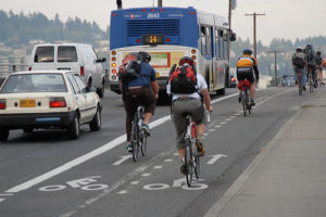 I bet that drivers in Portland are happier too. Photo by BikePortland.org
