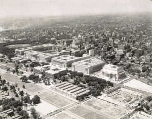 Federal Triangle in 1935. Image from Cornell University Library, via Flickr.