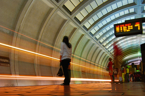 A quiet day on the Metro. Photo by Dsade.