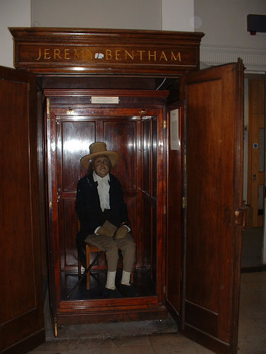 Jeremy Bentham's stuffed body would approve of Ryan Avent's ethics. Photo by jenniever.