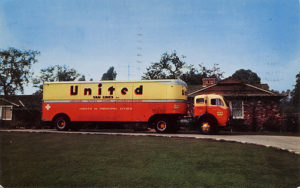 United Van Lines truck from 1956. Photo by Roadsidepictures.