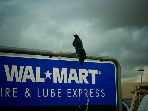Spooky Walmart picture by Flickr user Koonisutra.