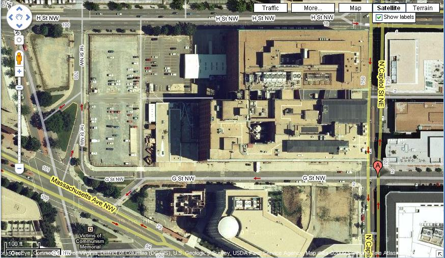 G Street NW, between North Capitol and Massachusetts. Image via Google Maps.