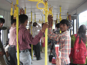 Janmarg is the first full BRT system in India. Photo by Madhav Pai.