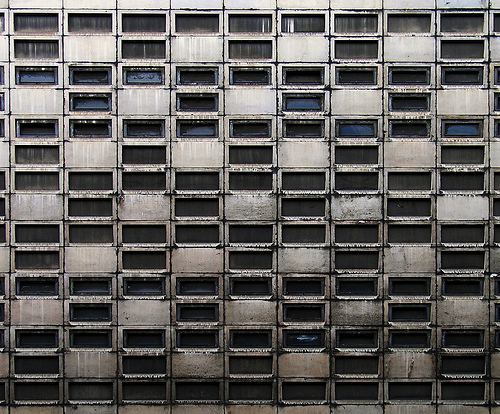 Brutalism in London. Photo by ben patio.