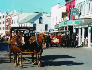 Car-free Mackinac Island, Michigan. Photo via Mother Nature News.