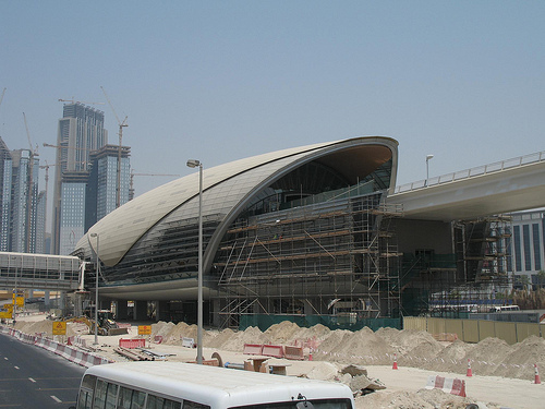 A station under construction in Dubai.