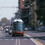 A new trolleybus corridor in Bologna, Italy tests new guide technology. Image from Roberto Amori on YouTube.