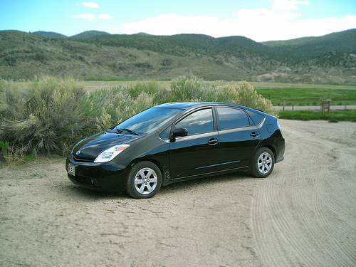 Rare earth minerals used to produce hybrids like this Toyota Prius have detrimental effects on the environment. Photo by <a href=