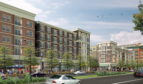 Dense infill project proposed for College Park, MD. Image courtesy of StreetSense Inc.