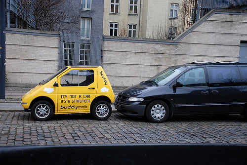 Little car, big statement, on the streets of Copenhagen. Photo by america.gov.