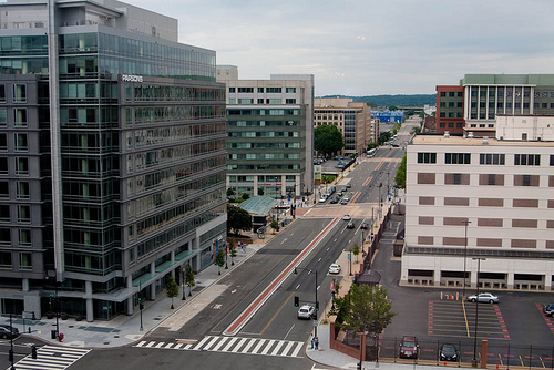 Looking at M Street, SE from First Street. Flickr photo courtesy of Pak Gwei.
