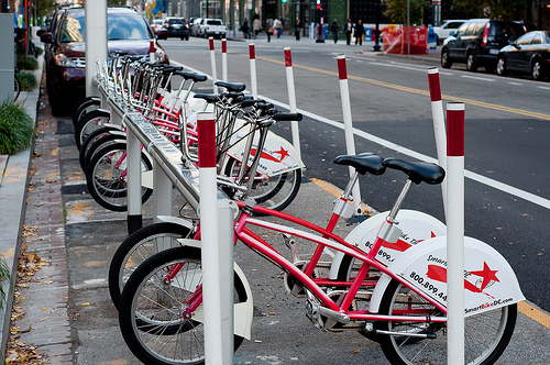 Bikesharing programs, like SmartBike in Washington, D.C., are a hot topic at TRB's Annual Meeting. Photo by Hugger Industries.