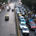 Evening rush hour traffic outside the Chhatrapati Shivaji Terminus in Mumbai. Photo by Vikas Hotwani.