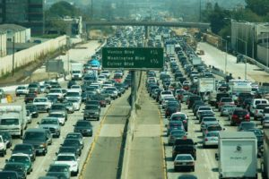 Economic recovery is good, but increased driving and congestion is not.  How can we have both at the same time?  Photo: Atwater Village Newbie, flickr.