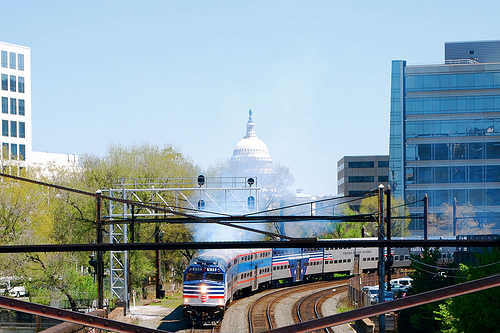 VRE trains are one option for Washington, D.C.'s regional commuters. Photo by M.V. Jantzen.