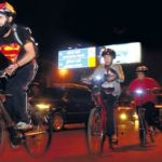 A group of cycling enthusiasts are encouraging Mumbaikers to ditch the traffic and cycle during the nighttime quiet hours as part of their everyday routine. Photo by Rana Chakraborty