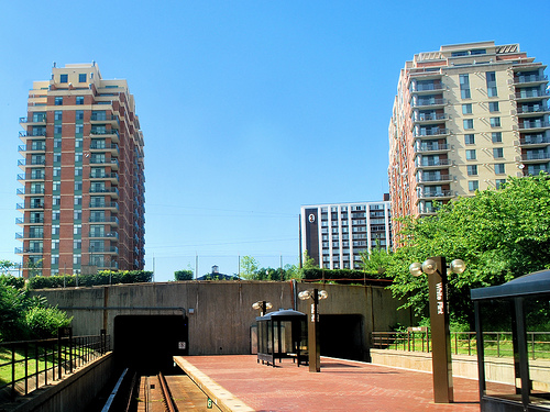 The areas around the White Flint metro would fall within the proposed commercial-residential zone, which aims to create mixed-use, walkable neighborhoods. Photo by M.V. Jantzen.
