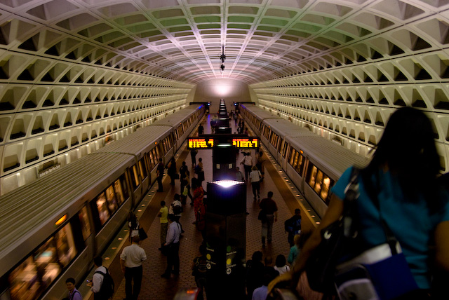 Washington, DC's transit system is one of many across the country facing budget and ridership woes due to the recession.  Photo: MJM, flickr.
