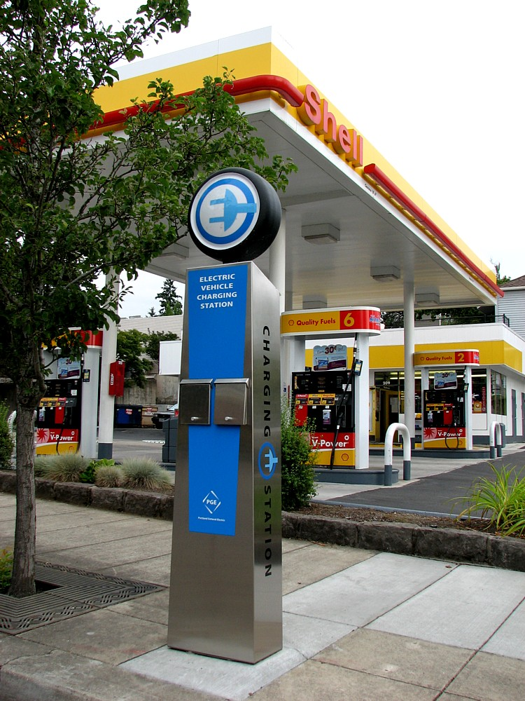 If DC is going to be ready for the arrival of electric cars later this year, it's going to have to begin installing more public charging stations, like this one in Oregon, soon.  Photo: Todd Mecklem, flickr.