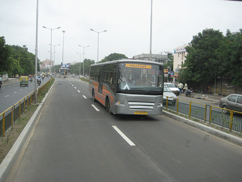 Ahmedabad's BRT system, known as Janmarg, is a model for other cities to follow.  Photo by Madhav Pai.