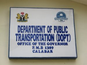 Department of Public Transportation in Nigeria. Photo by Drew Alt.