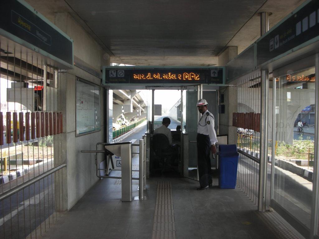 Off-board ticketing. Photo by Prajna Rao.