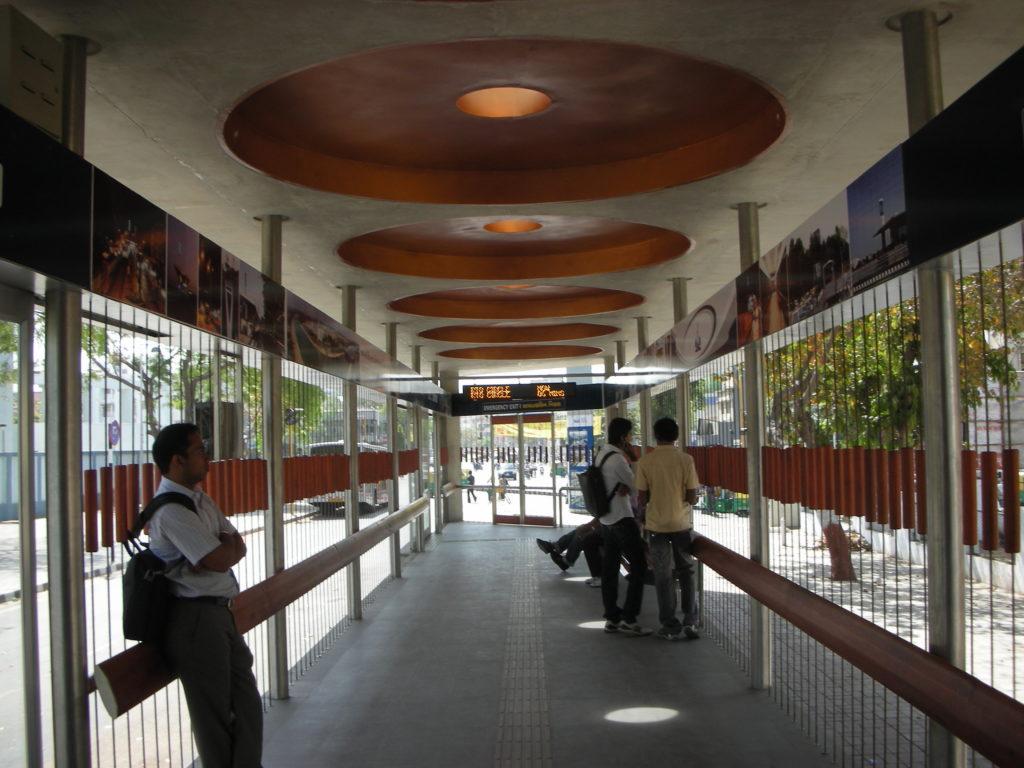 Open, airy interiors of Kankaria Terminal. Photo by Prajna Rao.