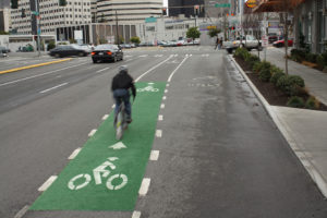 Seattle's many bike lanes helped earn it the title of Top Time-Saving City from Real Simple magazine. Photo: SDOT.