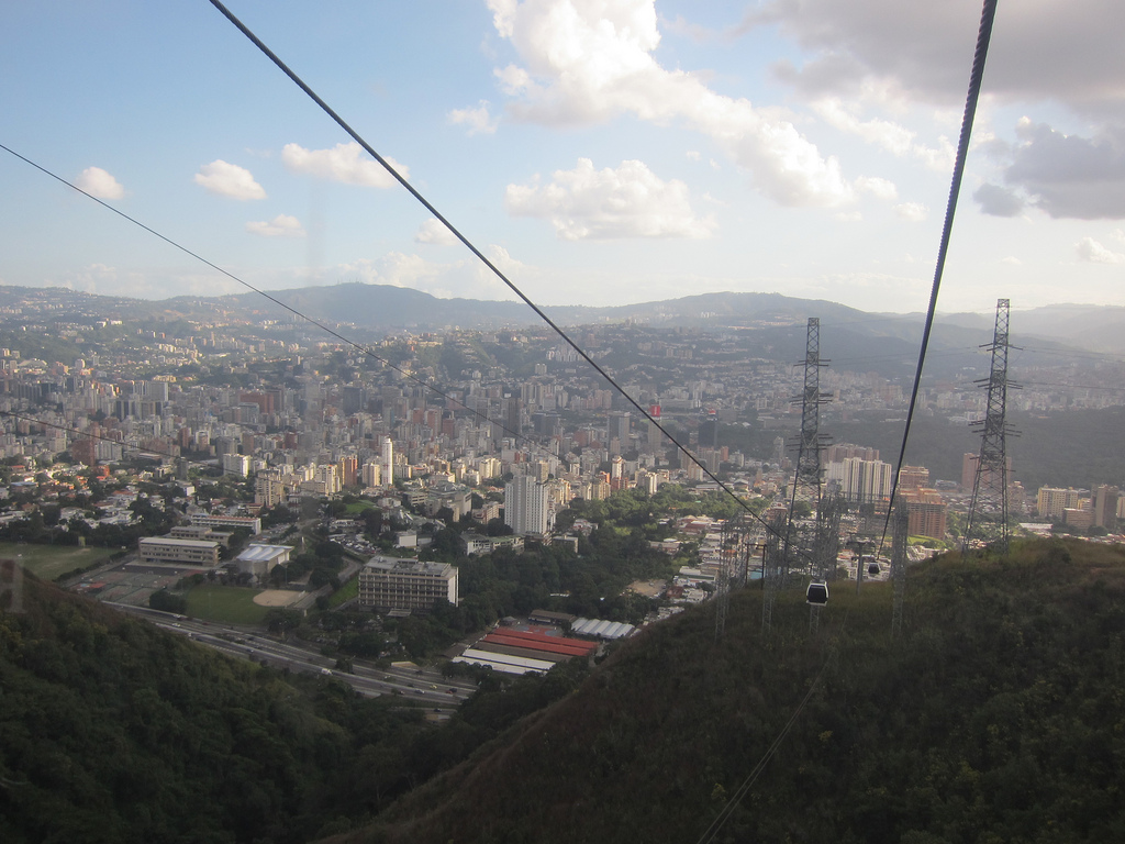 Caracas' cable cars provide transit connections to barrio residents and tourists alike. Photo: allert.