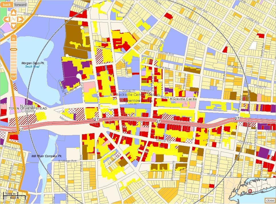 Acres of Opportunity in Rockville Centre.  Map: Long Island Index.