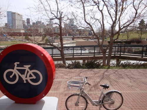 Denver, Colo. opens the biggest bike-sharing program in the United States. Photo via B-Cycle.