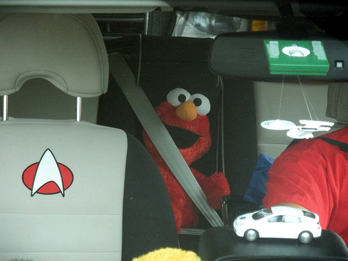 Elmo is now a spokesperon for road safety, thanks to the Sesame Workshop and the Global Road Safety Partnership. Photo by mhaithaca.