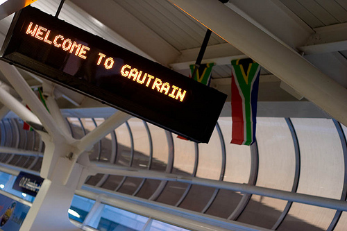 Just in the nick of time, South Africa debuts the Gautrain which will transport World Cup fans into Johannesburg. Photo by fmgbain
