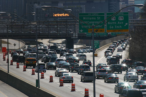 Traffic on Atlanta's roads has doubled with the area's population over the past twenty years. Photo via jcburns.