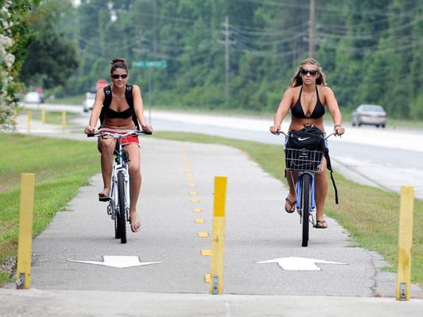 TheCityFix is tippin' our hat to Wilmington, NC for their investment in bike infrastructure, like the Cross City Trail pictured above. Photo via StarNewsOnline.com