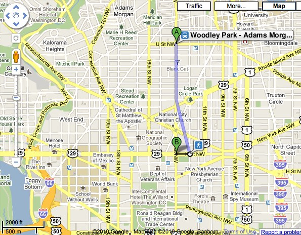 DDOT's open data allowed Circulator bus route information to be integrated into Google Transit.