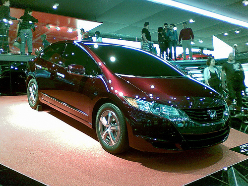 Honda FCX Clarity hydrogen-powered fuel cell vehicle. Photo by
