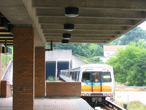 Atlanta's rapid transit system, MARTA, has struggled to remain afloat with no state funding and a 50/50 restriction on its operating/capital expenditures. Photo via tracktwentynine.