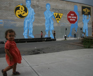 Could community-designed murals, like this one in Brooklyn, New York, be used to inform the public about important transportation issues in Washington, D.C.? Photo via Streetsblog.