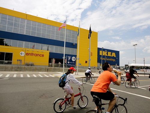 The Swedish retailer IKEA prefers four-wheel customers rather those who prefer to get around on two. Photo by bitchcakesny