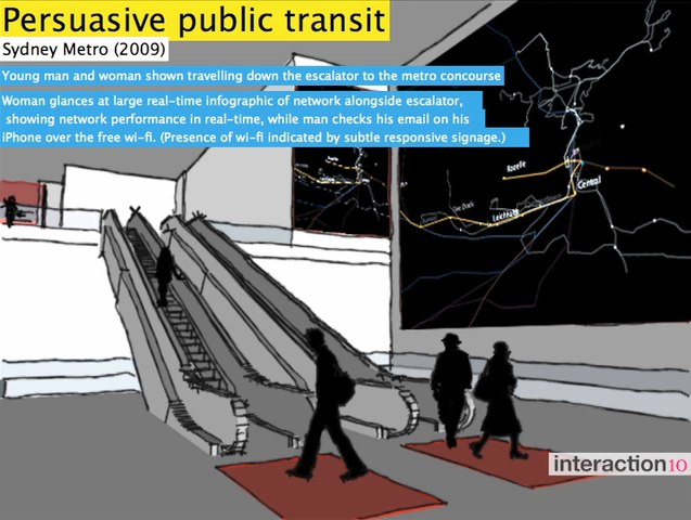Interactive visual displays would make transit more convenient. Screenshot via Interaction Design Association on Vimeo.