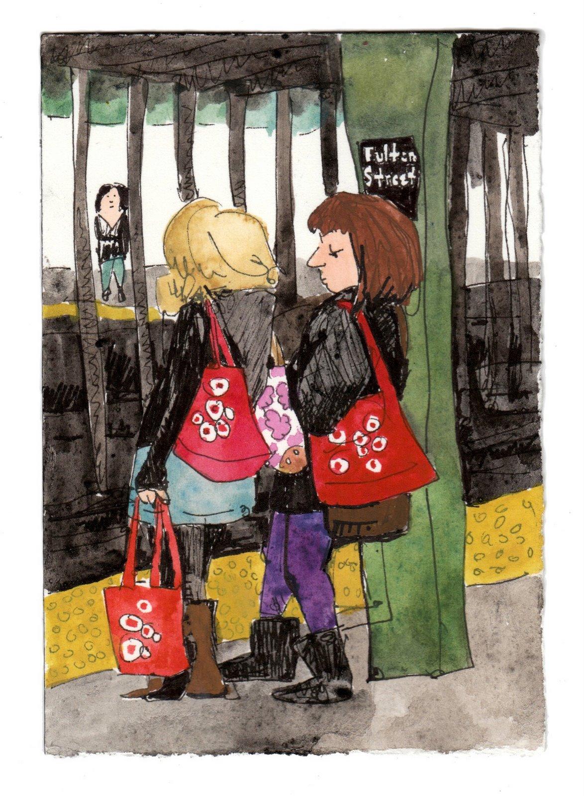girls carrying bags